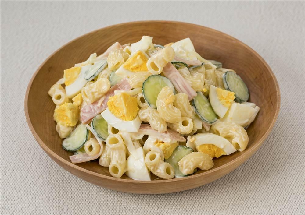 写真:ゆで卵とハムのマカロニサラダ