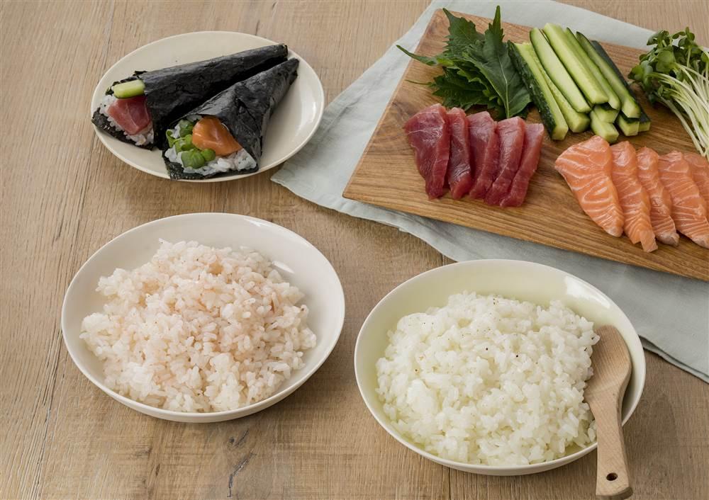 写真:ドレッシングで!かんたん手巻き寿司