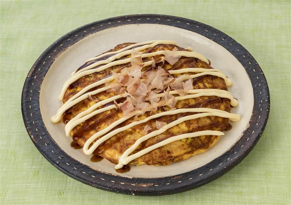 写真:ポテトサラダが大活躍!ポテサラのお好み焼き風