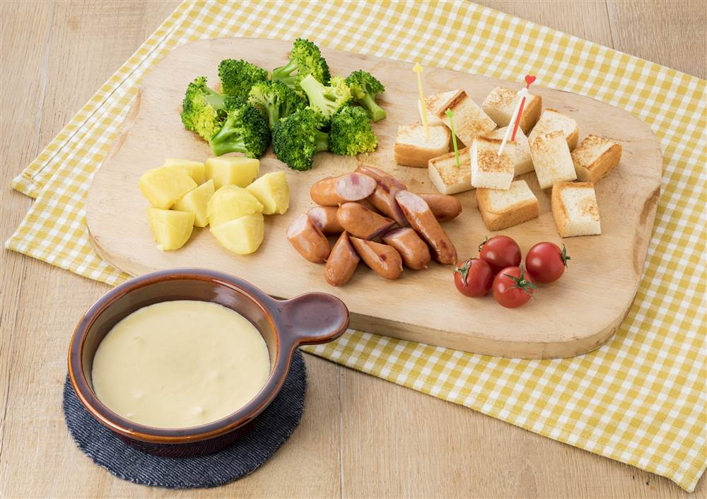 写真:チーズフォンデュ風マヨディップ