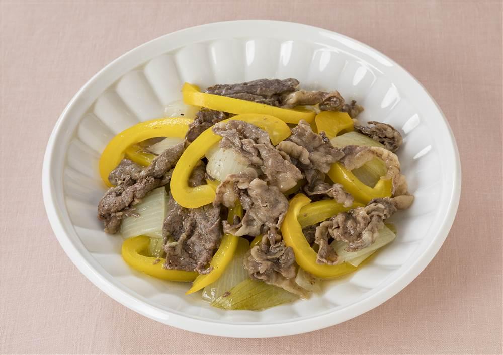 写真:玉ねぎと牛肉の蒸し煮