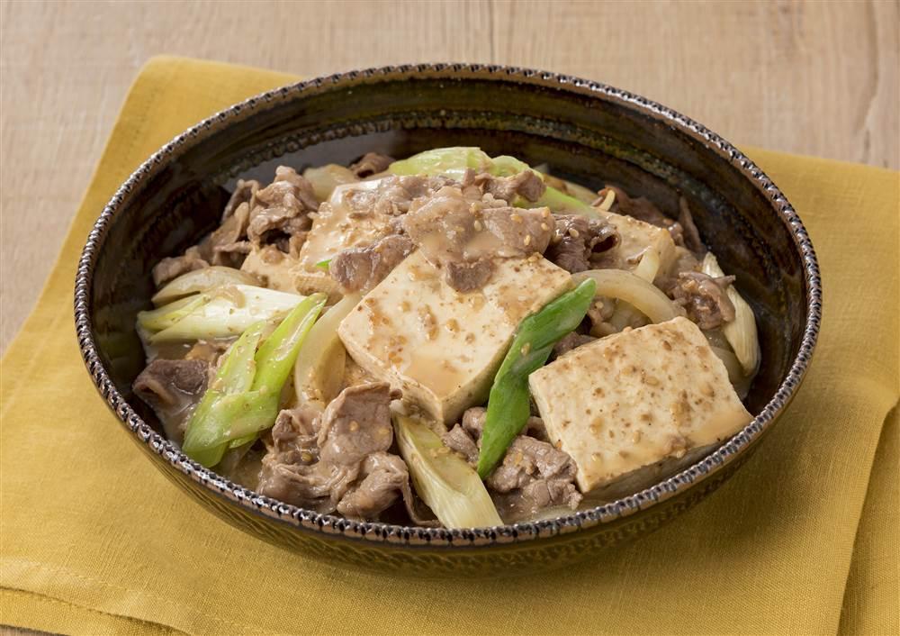 写真:ドレッシングで!深煎りごま肉豆腐