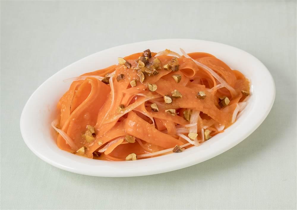 写真:にんじんとアーモンドのサラダ