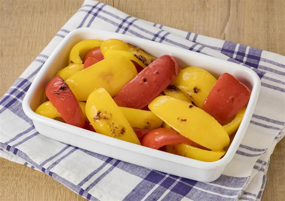 写真:焼きパプリカのレモンマリネ