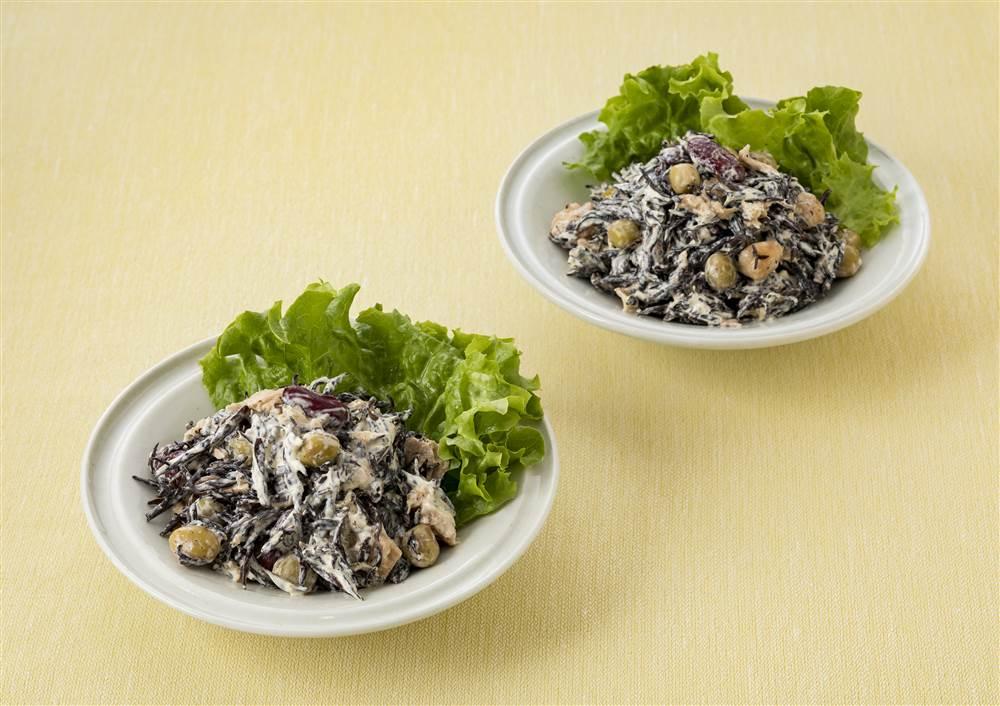 写真:ひじきとミックスビーンズのサラダ