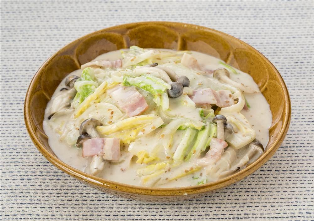 写真:レンジでかんたん!白菜の深煎りごまクリーム煮