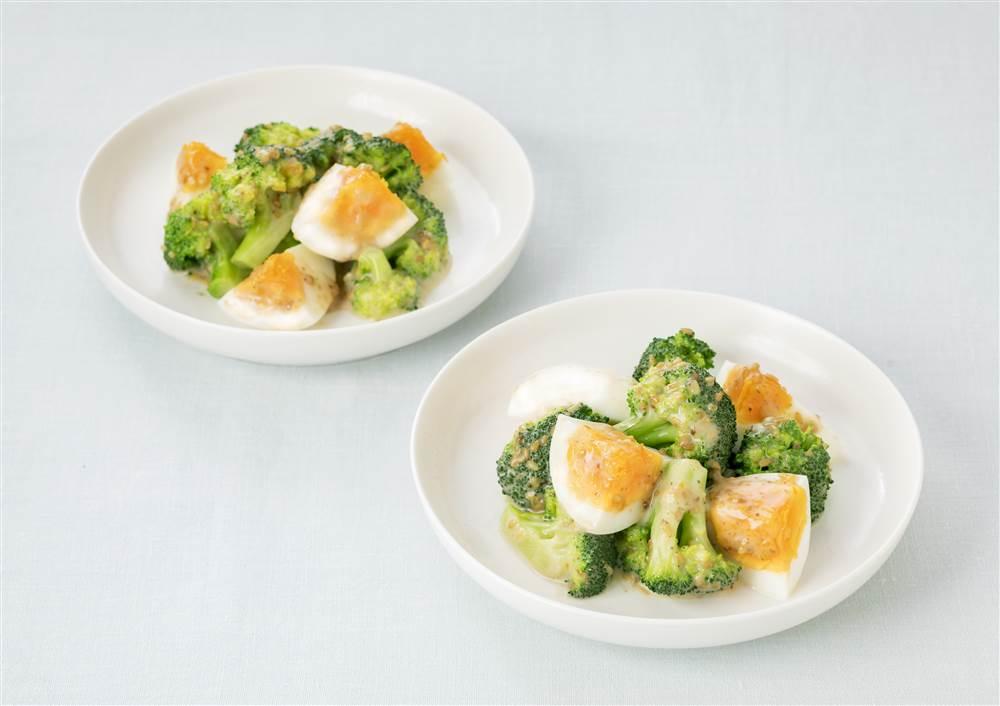 写真:ブロッコリーとゆで卵のあえサラダ
