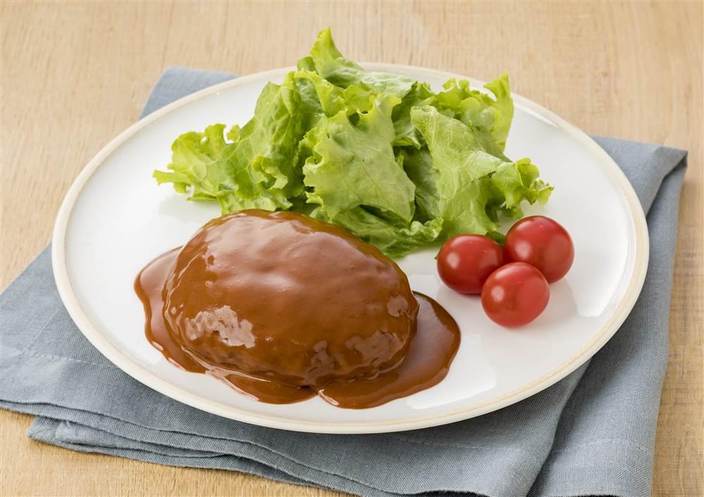 写真:ドミグラストマトのハンバーグ