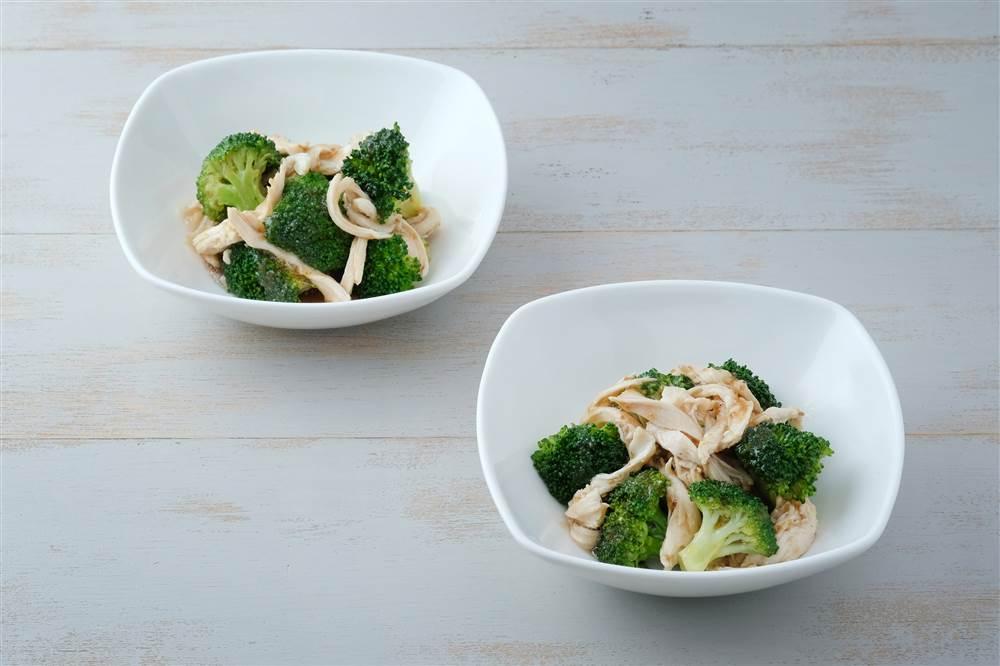 写真:ブロッコリーと鶏むね肉のあえサラダ