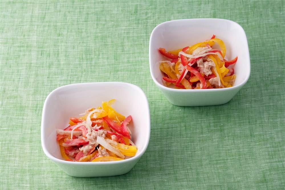 写真:パプリカとツナのあえサラダ