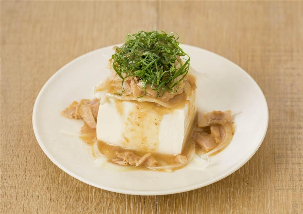写真:青じそとツナのおつまみ豆腐