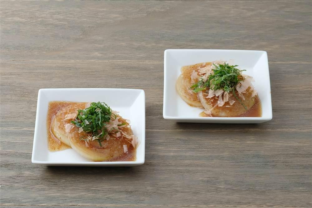 写真:玉ねぎの和風ステーキ