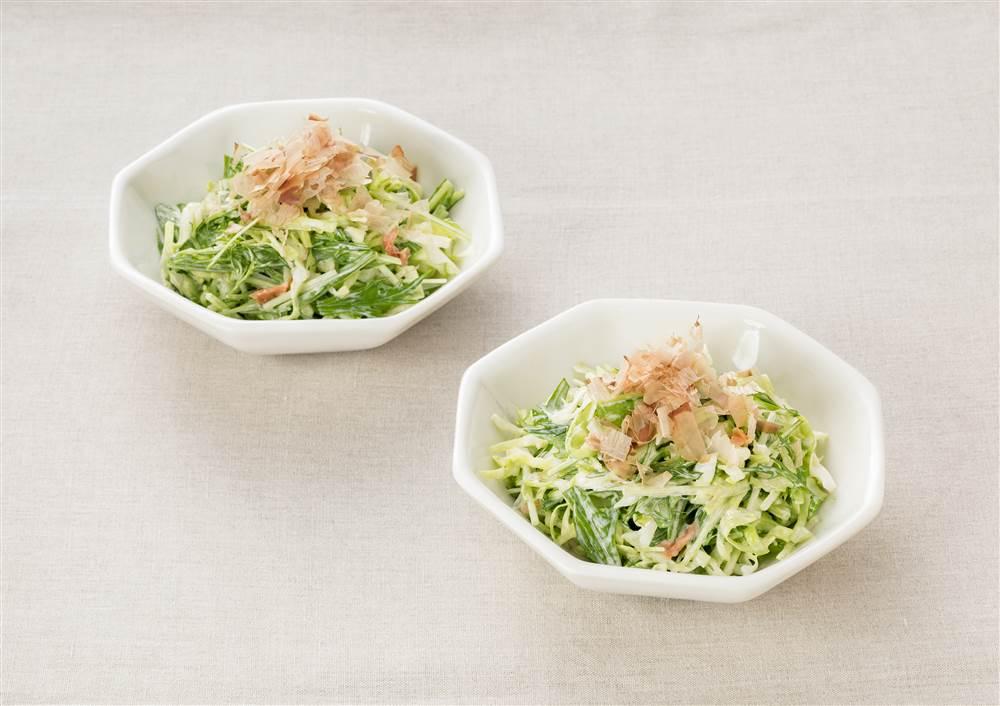 写真:キャベツと水菜のあえサラダ