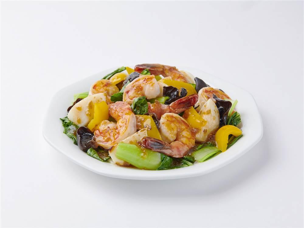 写真:えびとかぶとチンゲン菜のサラダ