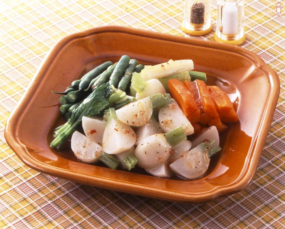 写真:かぶの温野菜サラダ
