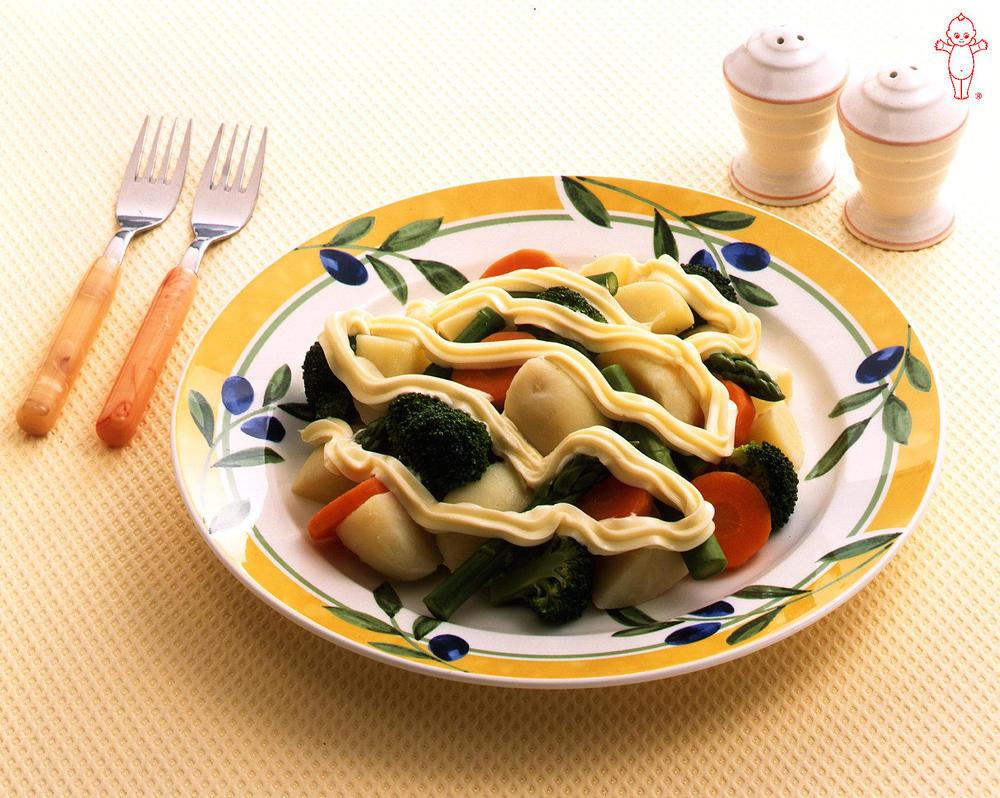 写真:朝の温野菜サラダ